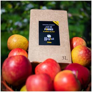 Les bags in box sont de retour sur notre site internet et dans notre magasin 🤩!  Idéal à transporter et facilement manipulable le bag in box Gargouil vous suivra tout l'été où que vous soyez ☀️.  Découvrez notre panel de parfums sur www.boutique-gargouil.fr et profitez d'une bouteille offerte avec le code «MONJUS».   @studio_onze_production📸 #applejuice#baginbox#fresh#fruit#pommes#produitfrais#letsdrink#sanssucreajoute#natural  #artisanal