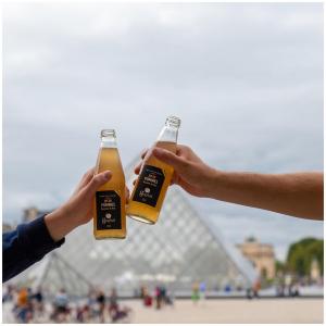 HAPPY SUNDAY ☀️  Profitez d'un instant de plaisir où que vous soyez avec nos petits formats légers, compacts et fruités 🍏🤩  Alors qu'attendez-vous ? 🙈  @studio_onze_production📸 #paris#bestcity#frenchtouch#jusdefruits#momentdeplaisir#pommes#applejuice#lelouvre#trinquezàvotresanté#sansalcool#letsdrink