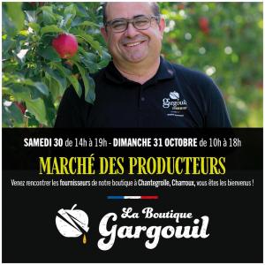 A vos agendas 📔 ~ Retrouvez-nous le samedi 30 et dimanche 31 octobre à la SARL gargouil !  ~ Au programme ⬇️ ~  • Rencontre de nos fournisseurs  • Découverte du savoir-faire français et des produits du terroir  • Dégustation et possibilité de manger sur place 🍜 ~ Nous comptons nous votre présence 🤩  @antimat.seb📸 #marché#producteurslocaux#produitsfrancais#produitsduterroir#frenchgastronomie#savoirfairefrancais#pommes#charrouxvienne#convivialmoments
